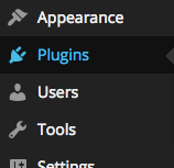 The plugins link in the WordPress dashboard.