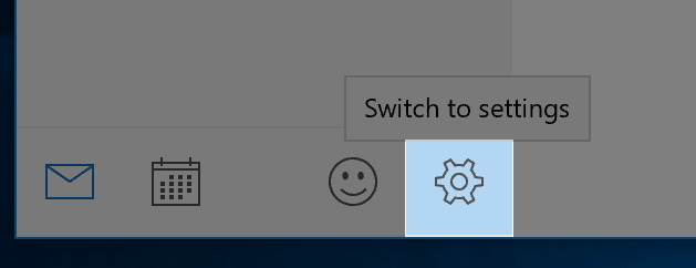 Windows 10 Mail Settings